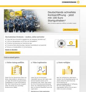 Gemeinschaftskonto bei der Commerzbank Screenshot