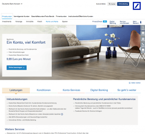 Gemeinschaftskonto von der Deutschen Bank Screenshot