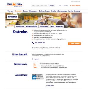 Screenshot Gemeinschaftskonto bei der ING Diba