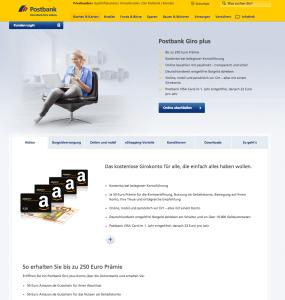 Screenshot Gemeinschaftskonto Postbank