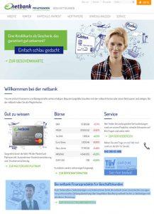 Netbank Gemeinschaftskonto Homepage Screenshot