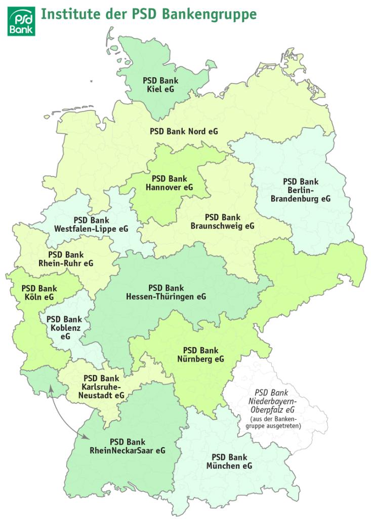 PSD Banken Landkarte